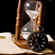 The hourglass and the book — Stock Photo #6786082