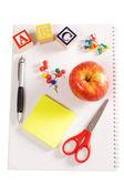 Apple - концепция школы и карандаши — Стоковое фото