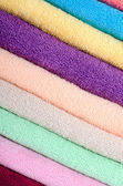 The combined colour towels — Stock Photo