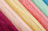 The combined color towels — Stock Photo