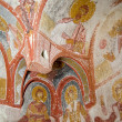 Ancient fresco in Cappadocia Turkey - Stock Photo