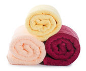 The combined color towels — Foto de Stock
