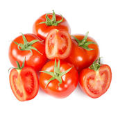 Red tomato isolated on white background — Stock Photo