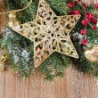 Stock Photo: Christmas decorative border