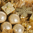 Stock Photo: Christmas tree ball as background