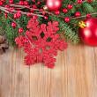 Christmas decorative border — Stock Photo
