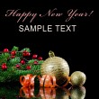 Christmas and New Year Border on black — Stock Photo #7649517