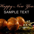 Christmas and New Year Border on black — Stock Photo #7649524