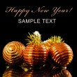 Christmas and New Year Border on black — Stock Photo #7649528