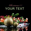 Stock Photo: Christmas and New Year Border on black