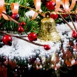 Christmas and New Year Border on black — Stock Photo #7649549