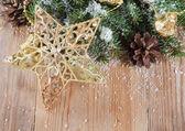 クリスマスの装飾的なボーダー — ストック写真
