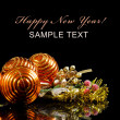 Christmas and New Year Border on black — Stock Photo #7713799