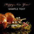 Christmas and New Year Border on black — Stock Photo #7852985