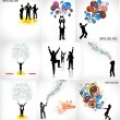 Set of posters for business — Vector de stock #6856044