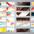 Royalty-Free Stock Vector Image: Mix collection business cards and banners.
