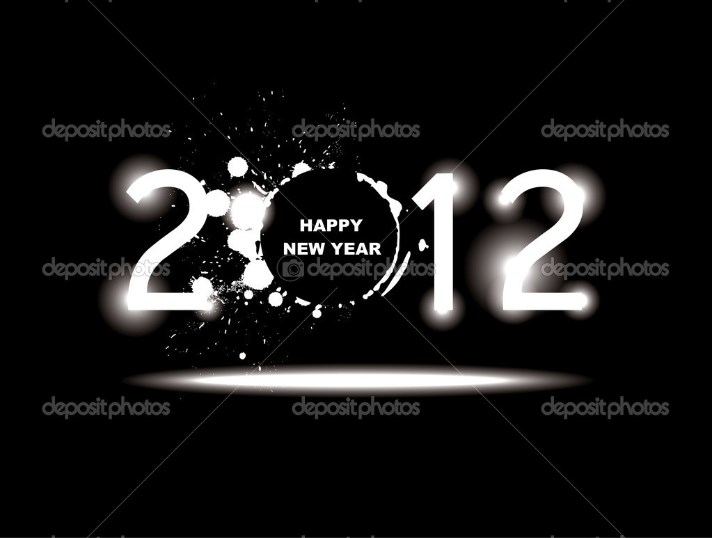 New year 2012 design. — Image vectorielle #6856806