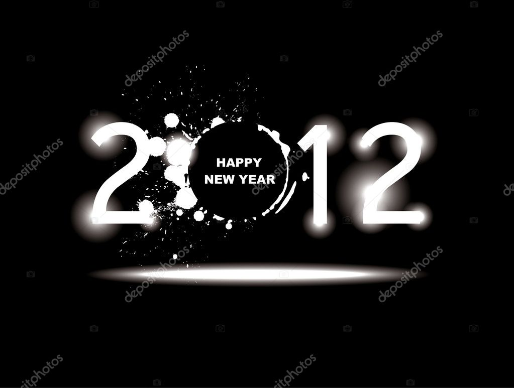 New year 2012 design.  Image vectorielle #6856806
