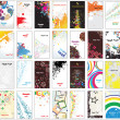 Collection vertical business cards on different topics - ベクター素材ストック