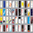 Collection Vertical banners - Imagens vectoriais em stock