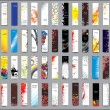 Collection Vertical banners - Stock vektor