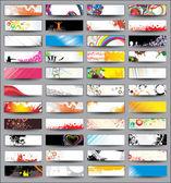 Cabeçalhos horizontal de coleção — Vetorial Stock