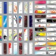 Mix Collection vertical and horizontal banners - Vettoriali Stock
