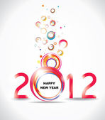 New year 2012 in white background. Abstract poster — Stock Vector