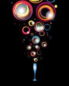Ilustración abstracta festivo — Vector de stock