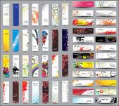 Mix коллекции вертикальные и горизонтальные баннеры — Cтоковый вектор