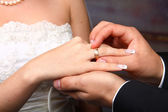 Wedding Ring on Her — Stock Photo