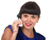 женщина оператора поддержки корпоративного клиента — Стоковое фото