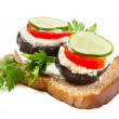 Open sandwich — Foto Stock