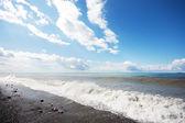 Plaża i niebo — Zdjęcie stockowe