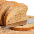 Bread and knife — Foto Stock