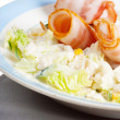 Salad with bacon — Stock Photo