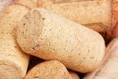 Macro view of corks — Stock Photo