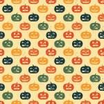 Halloween seamless background with pumpkin. Retro pattern. — Stock Vector
