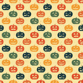 Halloween seamless background with pumpkin. Retro pattern. — Stock Vector