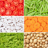 Healthy food background. Vegetables set. — Stock Photo