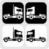 Tractor-truck-cabin-icon — Stock Vector
