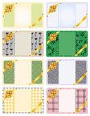 Gift-card-set — Stock Vector