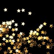 Stock Photo: Golden Christmas stars