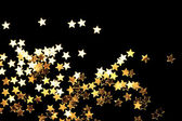 Estrellas de navidad oro — Foto de Stock