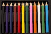 карандаш коробки — Стоковое фото