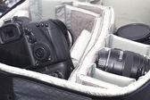 Portable camera bag — Stock Photo