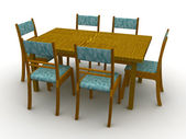Chairs and a table — Stock Photo