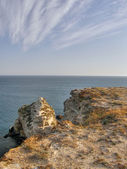 Beautiful sea coast. The western Crimea. — Stock Photo