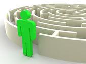 Three-dimensional graphic image. Labyrinth. — Stock Photo
