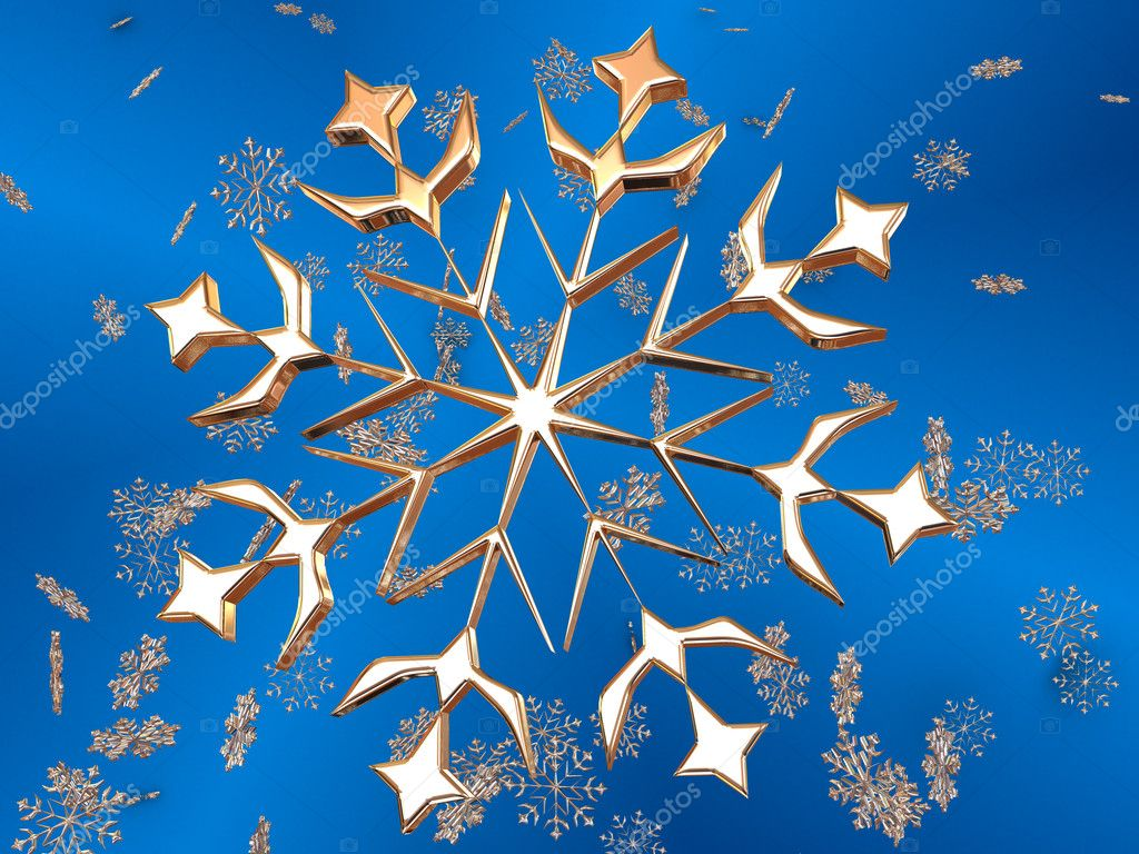 Snowflake. illustration. — Stock Photo #7817174